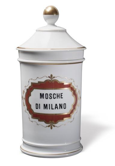 Mazzolini Giuseppucci Pharmacy Museum's Ginori collection of pharmacy porcelain vases